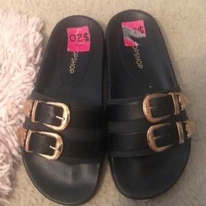 Topshop Rubber Slides